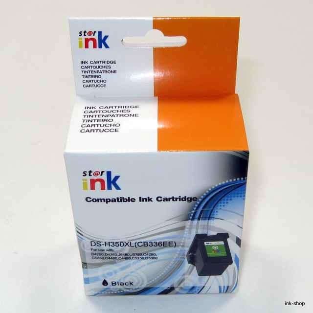 HP350XL, CB335EE, CB336, kompatibilní náplň, černá