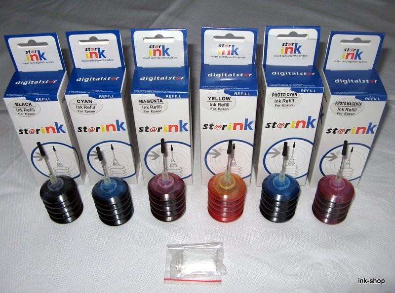 Sada inkoustů pro Epson 6x 25ml - PROFI