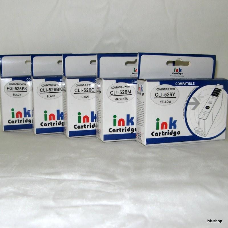 Plnitelné náplně PGI-525BK, CLI-526BK, CLI-526C, CLI-526M, CLI-526Y, včetně inkoustu