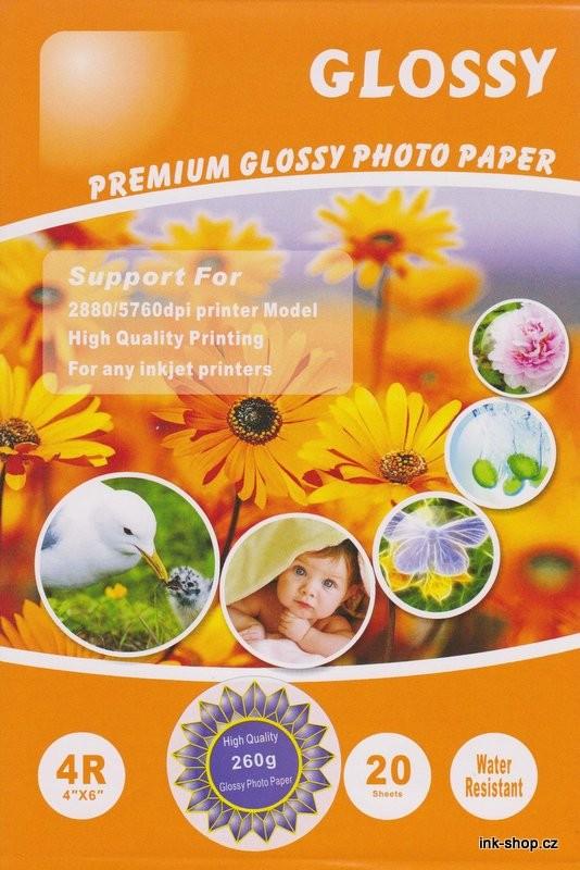 Foto papír A6, 10x15 cm, 260gr, 20ks