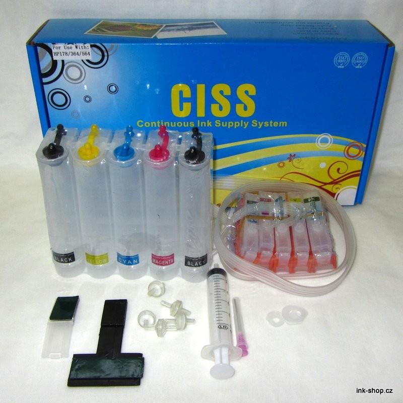 CISS / SPDI pro HP 364, bez inkoustu (5 náplní)