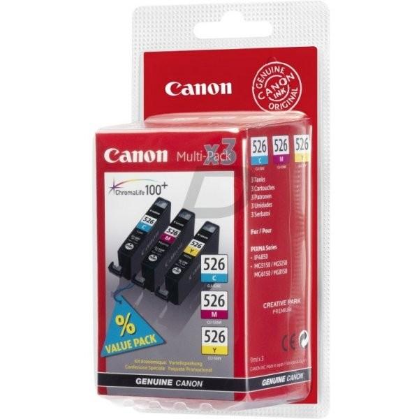 Canon CLI-526 multipack červená, žlutá, modrá - originální