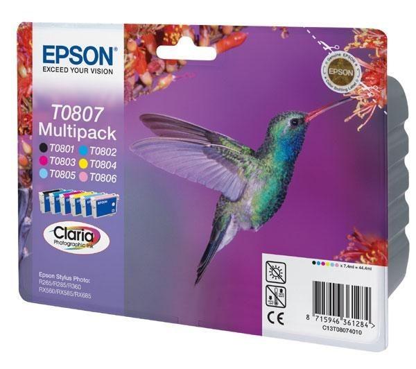 Epson T0807, originální náplně
