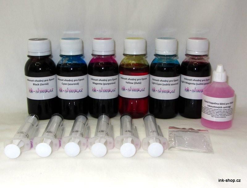 Sada inkoustů pro Epson 6x 100ml - PROFI